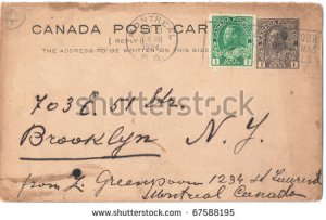 stock-photo-canada-circa-an-old-used-postcard-and-postage-stamps-sent-from-montreal-to-new-york-usa-67588195